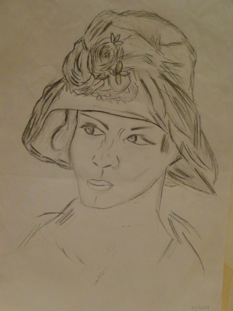 Woman Pencil Sketch